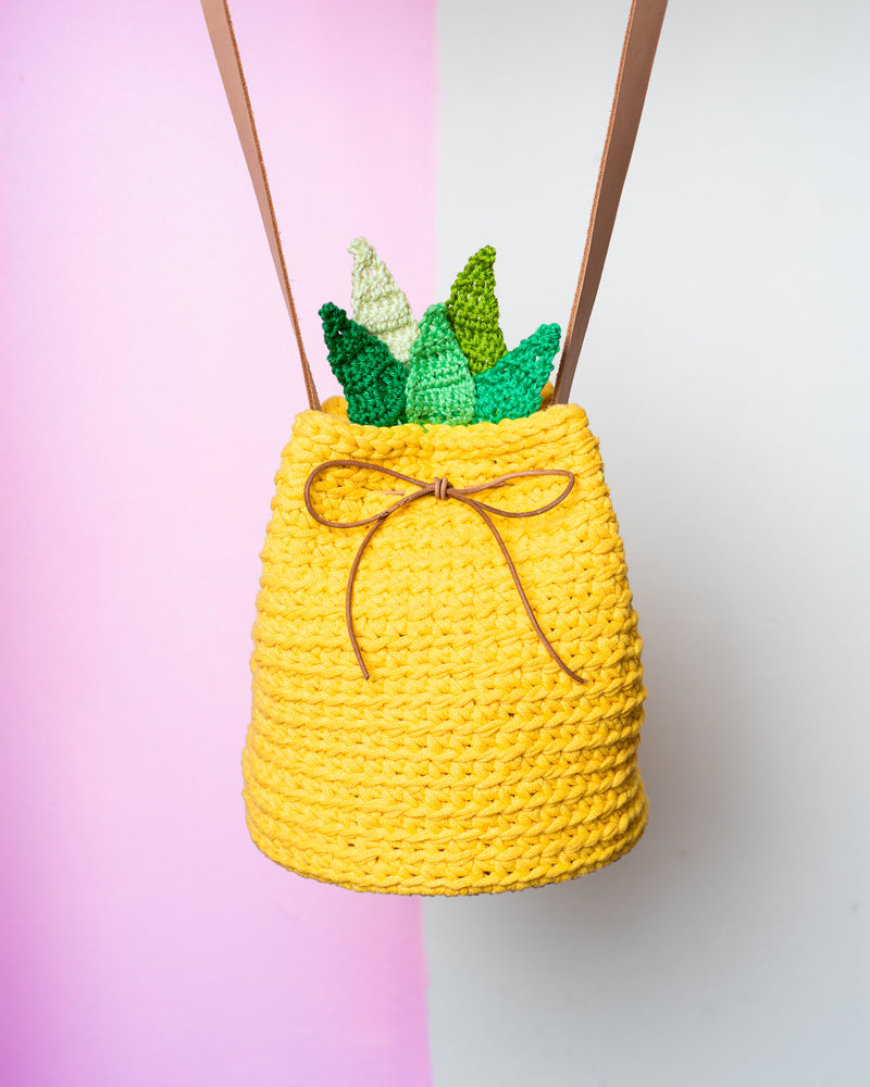 tiny rabbit hole pineapple bucket bag crochet workshop