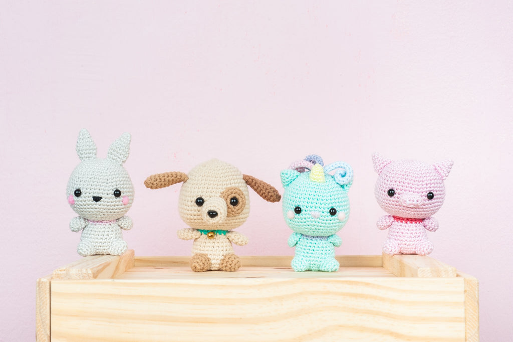 Tiny Rabbit Hole - Crochet Knit Classes for Romance of the Animals Kingdom Amigurumi in Singapore Chinatown