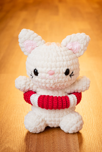 Cannoli the Lifesaver Cat Amigurumi Pattern & Kit