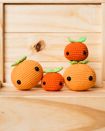tiny rabbit hole bunny kam orange mandarin chinese new year cny 2020 kam crochet amigurumi safety eyes stuffing leaves