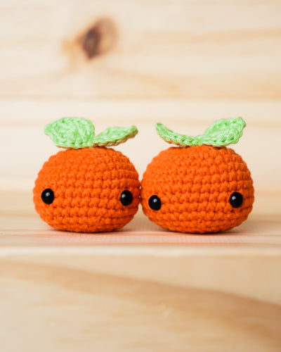 tiny rabbit hole chinese new year cny crochet amigurumi kumquat orange kam leaves plush cute kawaii