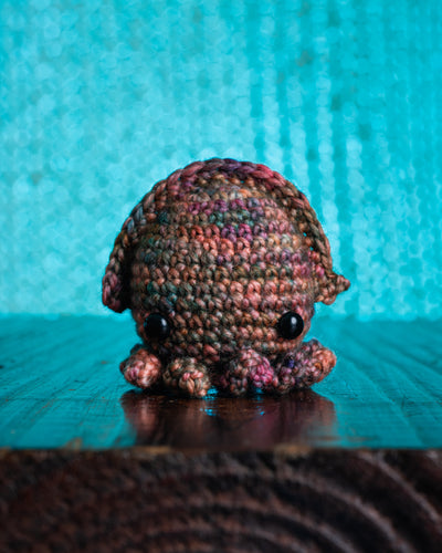 tiny rabbit hole bunny amigurumi kraken squid sotong kaijuu fibers crochet singapore workshop material kit hook cephalopod sepiida