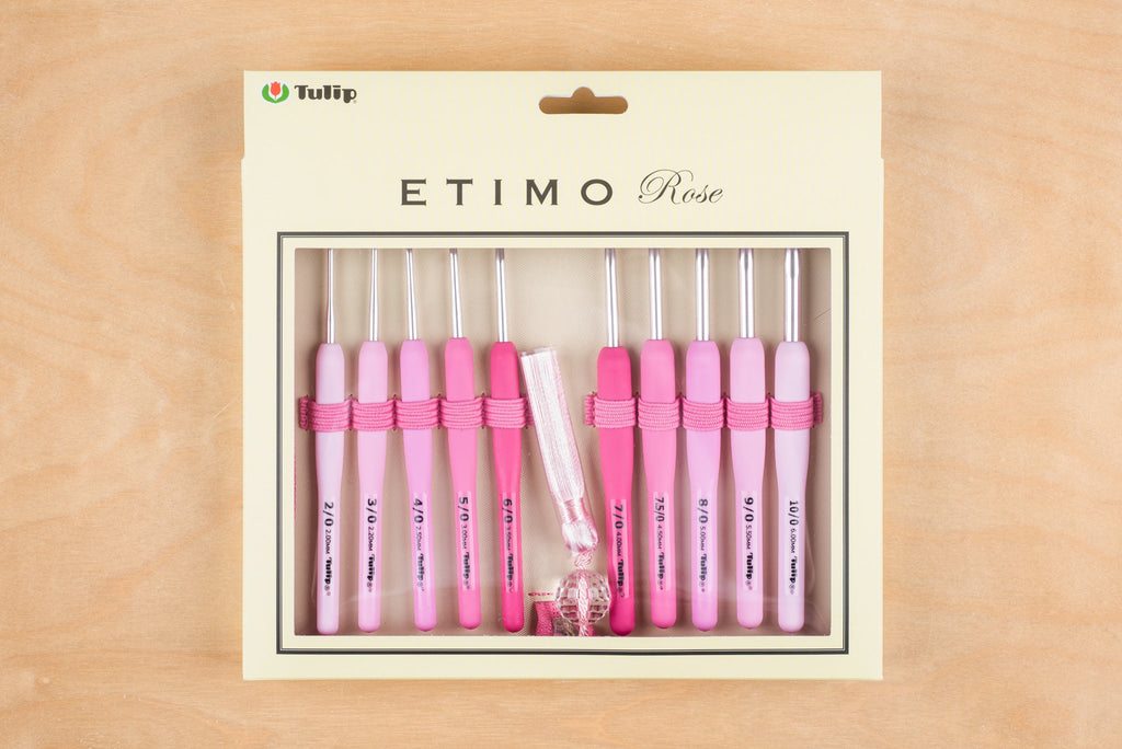 tiny rabbit hole - Japan Tulip Etimo Rose Crochet Hook Set  2mm, 2.2mm, 2.5mm, 3mm, 3.5mm, 4mm, 4.5mm, 5mm, 5.5mm, 6mm Tulip Etimo Rose Crochet Hook Set Singapore best yarn craft shop gift amigurumi bag shawl beanie cardigan wool supplies diy project kit hobby newbie beginner needlework stitching
