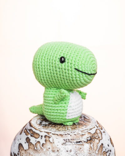 Tetrix the T-rex Amigurumi Pattern & Kit