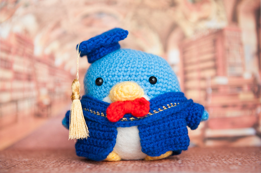 Tuxedo Sam the Graduation Penguin Amigurumi Pattern & Kit