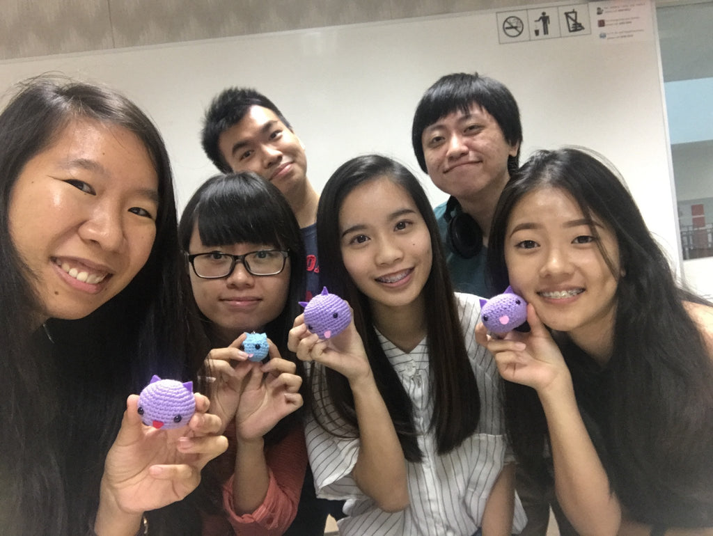 ​Tiny Rabbit Hole - Knitting Knit Crochet Dango Pokemon Amigurumi Crocheted Doll Singapore SIT Workshop