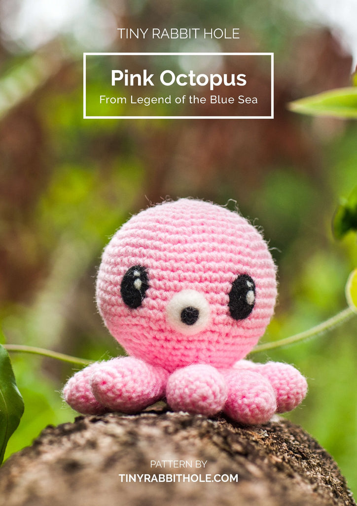 tiny rabbit hole - crochet your favourite amigurumi bootcamp Workshop pink octopus from legend of the blue sea