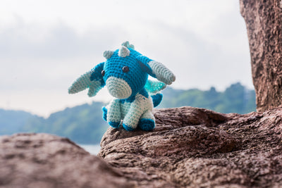 Selenzium the Moon Dragon Amigurumi Pattern & Kit