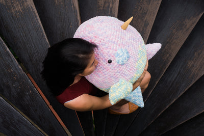 Shiriri the Rainbow Narwhale Amigurumi Pattern