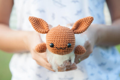 Lazy Eevee Amigurumi Pattern & Kit