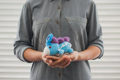 Lazy Suicune Amigurumi Pattern & Kit