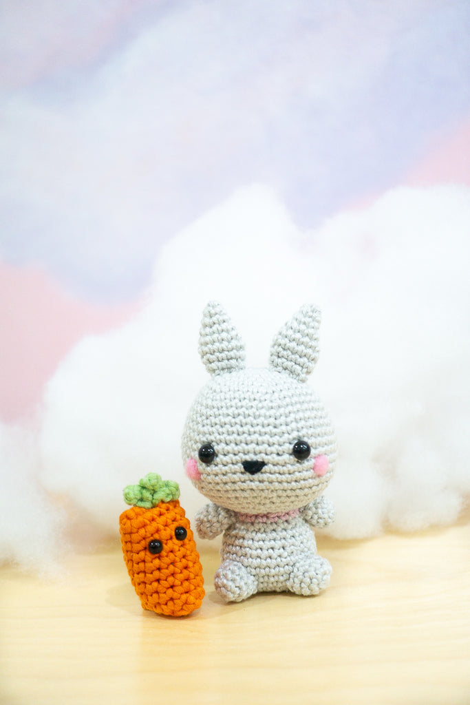 Fuwa-Fuwa Chan the Fluffy Bunny Amigurumi Pattern & Kit