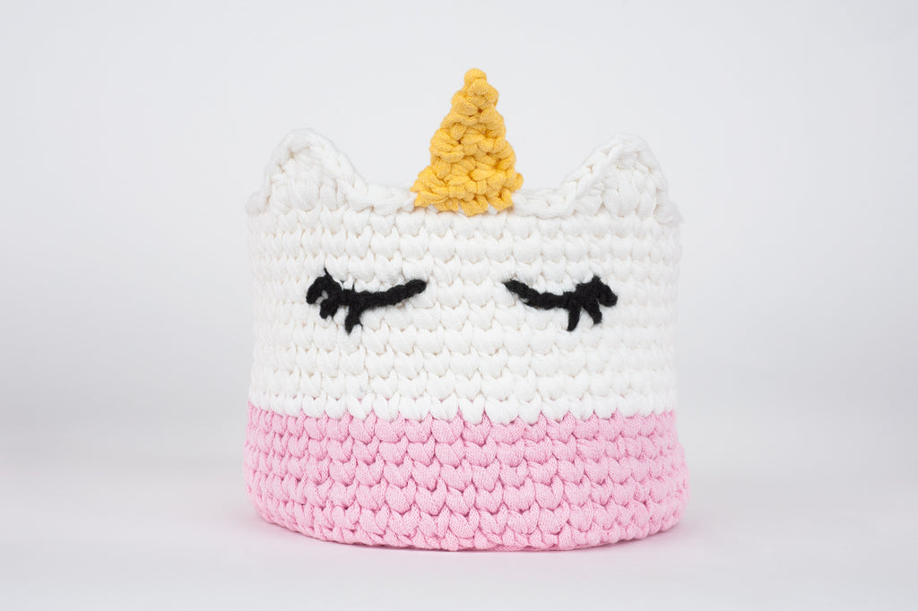 unicorn basket wonderland amigurumi crochet basket practical tea carrot bunny rabbit workshop crochet singapore