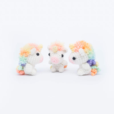 Picomaru the Baby Rainbow Unicorn Amigurumi Pattern & Kit (Twin Pack)