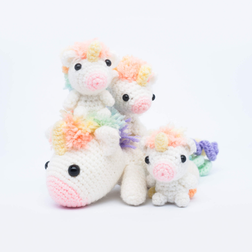 Picomaru the Baby Rainbow Unicorn Amigurumi