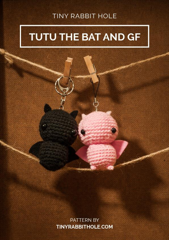 tiny rabbit hole - crochet your favourite amigurumi bootcamp singapore Workshop valentine bat