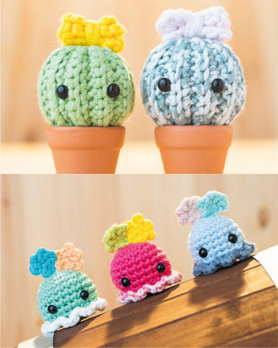 tiny rabbit hole cactus cacti resilient shrub succulent dumbo octopus sea creature amigurumi crochet workshop singapore chinatown