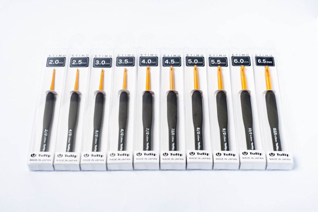 tiny rabbit hole - buy crochet 2.0mm 2.5mm 3.0mm 3.5mm 4.0mm 4.5mm 5.0mm 5.5mm 6.0mm 6.5mm Japan Tulip ETIMO Crochet Hook Singapore basic crochet kit
