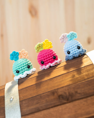 tiny rabbit hole dumbo octopus marine creature sea amigurumi crochet workshop online singapore easy crochet hook pretty cute kawaii chinatown