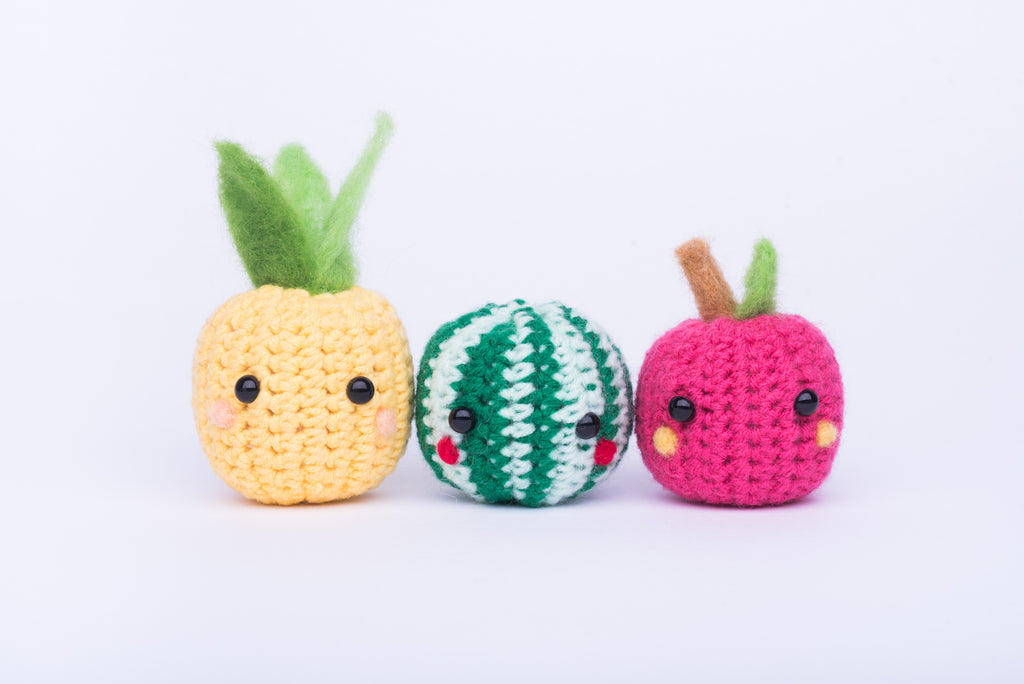 Pineapple Amigurumi Pattern & Kit (Twin Pack)