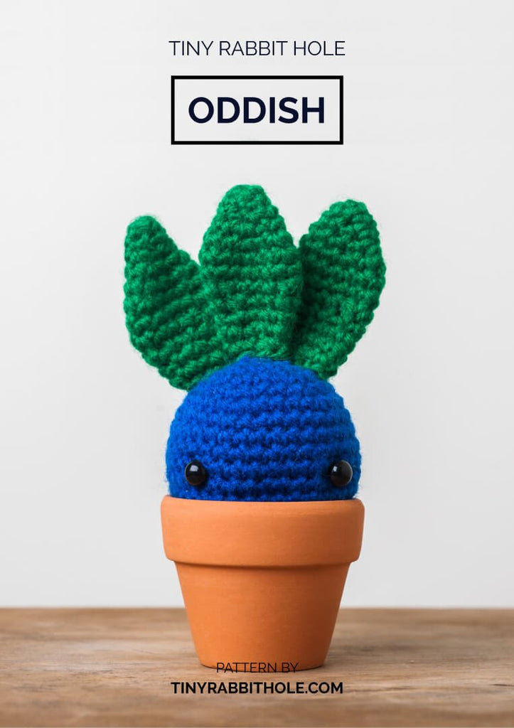 tiny rabbit hole - crochet your favourite amigurumi bootcamp singapore Workshop oddish from pokemon