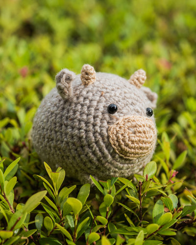 tiny rabbit hole oxford ox taurus gold cow 2021 chinese calendar new year amigurumi crochet pattern kit material amigurumi plush handmade singapore