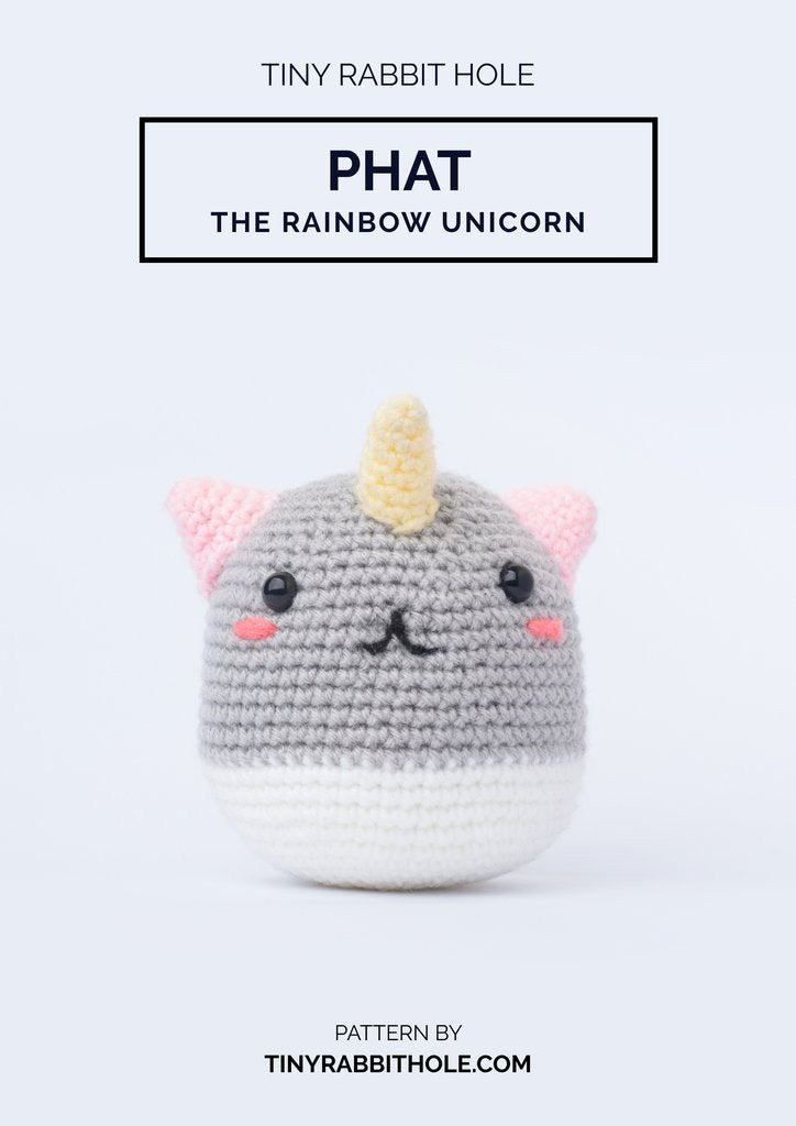 tiny rabbit hole - best top crochet amigurumi doll phat the rainbow unicorn