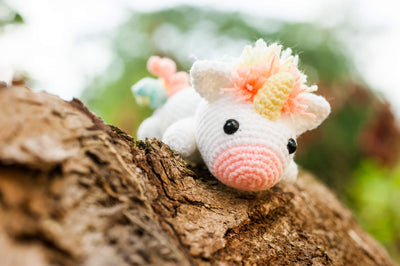 Lazy Rainbow Unicorn Amigurumi Pattern & Kit