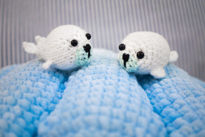 Seally Seal Amigurumi Pattern & Kit (Twin Pack)