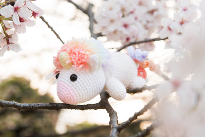 Lazy Rainbow Unicorn Amigurumi