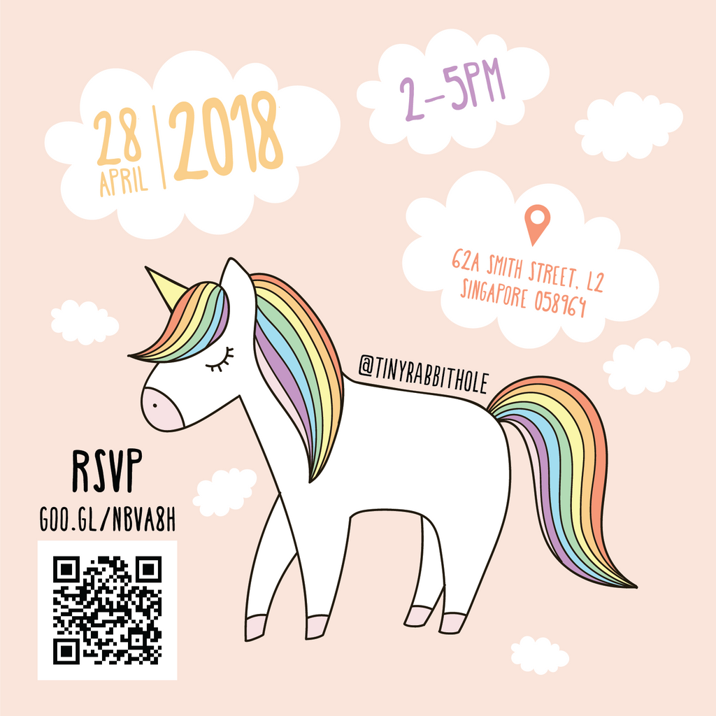 Tiny Rabbit Hole – Unicorn Day Chinatown Singapore Yarn Crochet Workshop Rainbow Lucky Draw Games Free Pattern Food