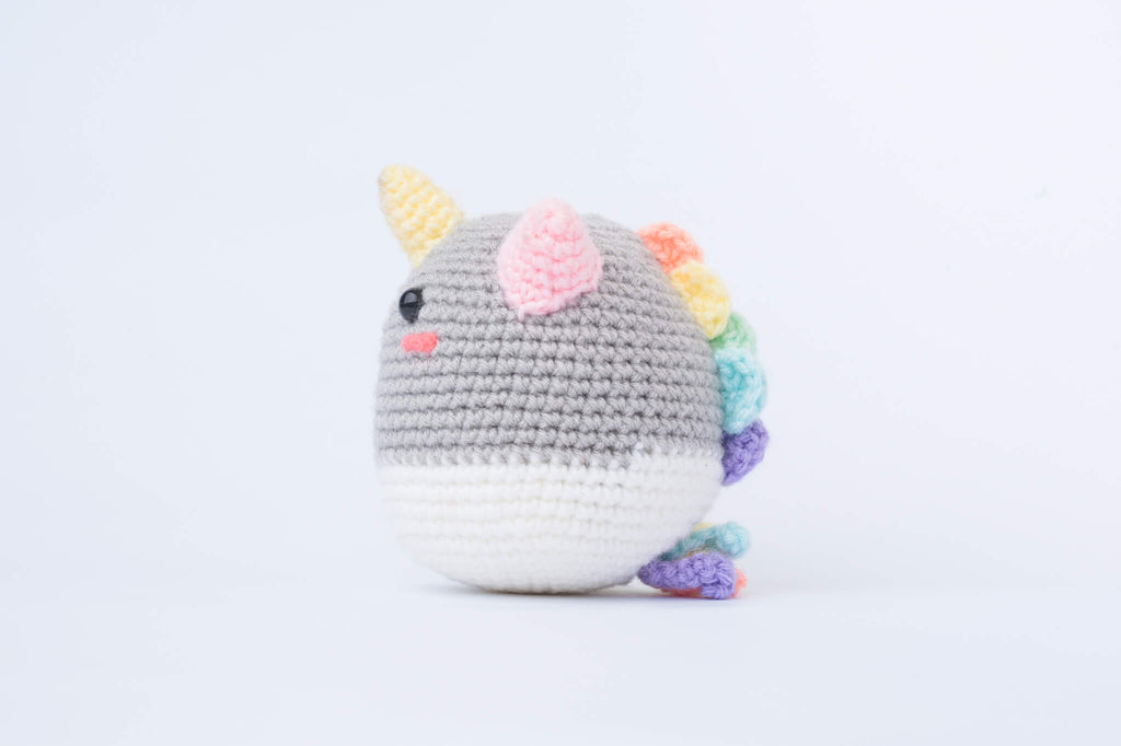 Phat the Rainbow Unicorn Amigurumi