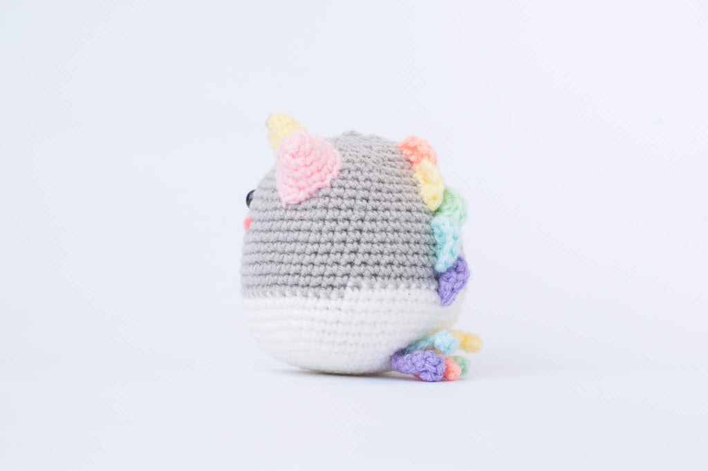 Phat the Rainbow Unicorn Amigurumi Pattern & Kit