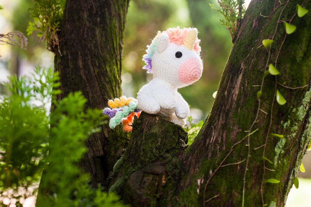 Koibito the Rainbow Unicorn Lover Amigurumi Pattern & Kit