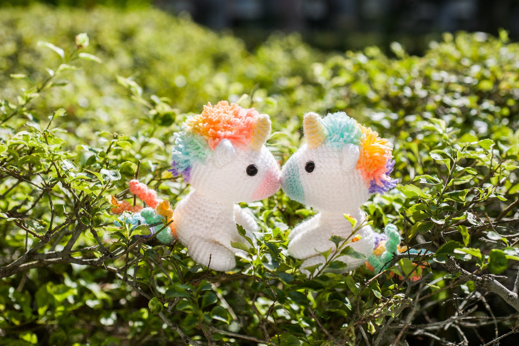 Tiny rabbit hole - best top knit knitting crochet craft amigurumi doll bootcamp workshop lesson singapore sitting rainbow unicorn