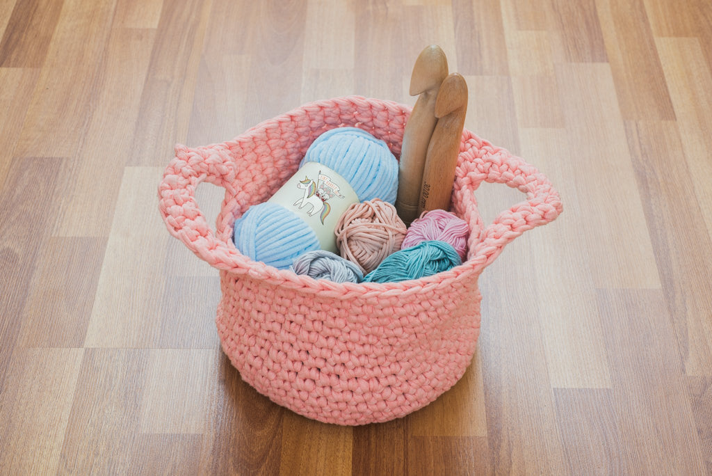 Tiny Rabbit Hole - Yarn Basket Workshop in Singapore