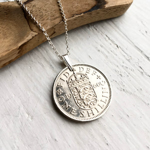 1960 English Shilling - Coin Pendant