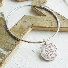 Load image into Gallery viewer, 1947 Sixpence Bangle
