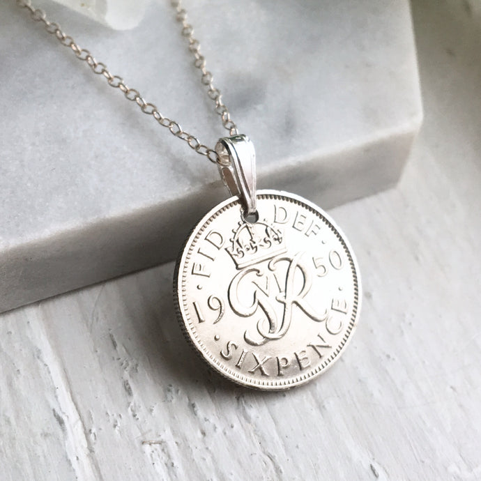 1950 Sixpence Necklace