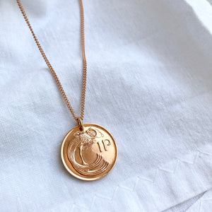 1980 Irish Necklace - Solid Rose Gold Chain