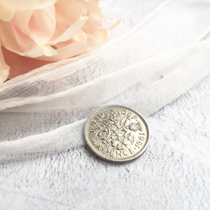 Something Old, New, Borrowed and Navy Blue Farthing Bridal Charm