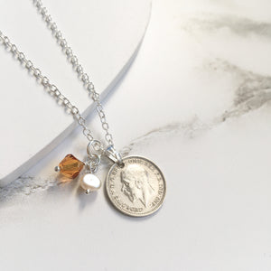 Acorns and Oaks Necklace - Birthstone Edition