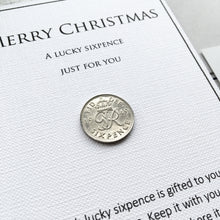Load image into Gallery viewer, Christmas Sixpence - George VI