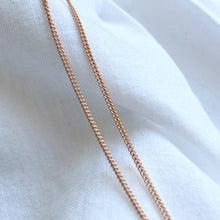 Load image into Gallery viewer, 1980 Irish Necklace - Solid Rose Gold Chain