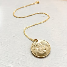 Load image into Gallery viewer, 1991 French Coin Necklace Pendant - Medium