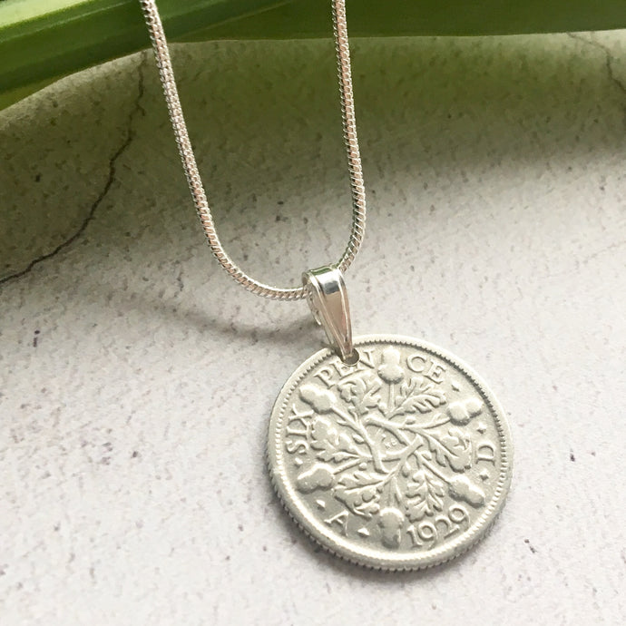 Acorns and Oaks Necklace- Coin Pendant
