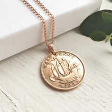 Load image into Gallery viewer, Half Penny Coin Necklace