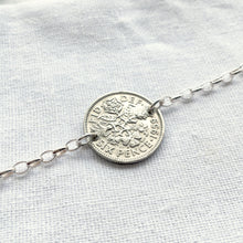 Load image into Gallery viewer, 1953-1967 Sixpence Oval Link Bracelet