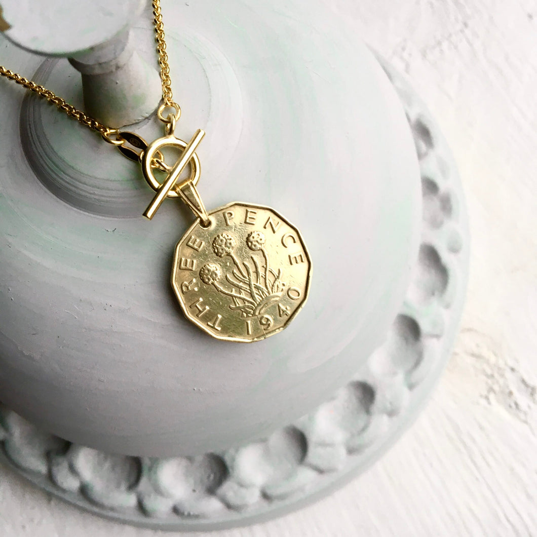 1940 Threepence - Gold Toggle