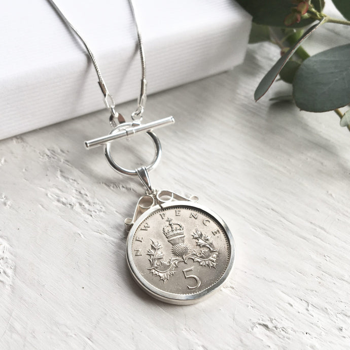 1971 Five Pence Necklace - Toggle